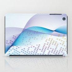 Light Blue Digital Abstract iPad Case