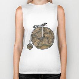 Penny Farthing Map Biker Tank