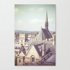 Oxford roofs Canvas Print