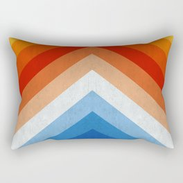 Blue and red fashion pattern Rectangular Pillow
