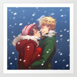 teddy billy - snow Art Print