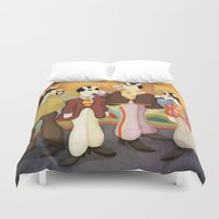 submarine Duvet Covers featuring Unicorn Submarine by That's So Unicorny