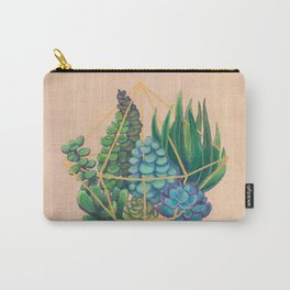 Geometric Terrarium 1 Acrylic on Wood Painting Carry-All Pouch