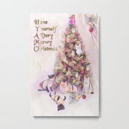 A Very Meowy Christmas Metal Print