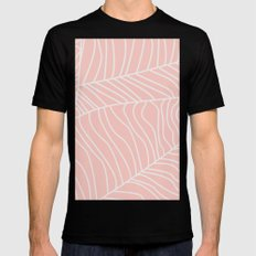 TROPICAL LEAVES - pink palette Mens Fitted Tee MEDIUM Black