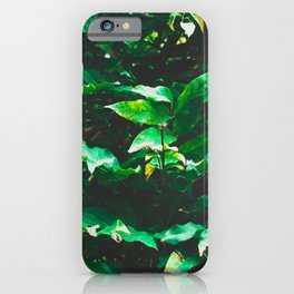 Garden leaf jungle iPhone Case