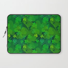 lucky Shamrock - Clovers All Over Laptop Sleeve