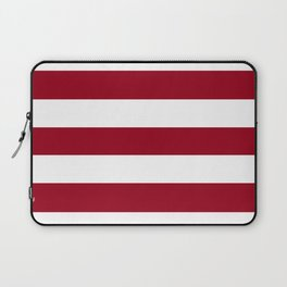 Heidelberg red[2] - solid color - white stripes pattern Laptop Sleeve