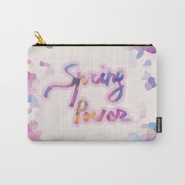 Spring power - abstract colorful art Carry-All Pouch