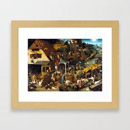 Pieter Brueghel Netherlandish Proverbs Framed Art Print