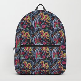 Neon Japanese Tattoo Backpack