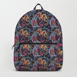 Neon Japanese Tattoo Backpack