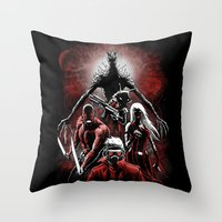 starlord Throw Pillows featuring Legendary Guardians by Fuacka