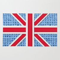 union jack Area & Throw Rugs featuring Union Jack by Cats Hand
