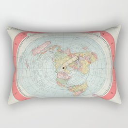 Flat Earth Society Wall Map Rectangular Pillow