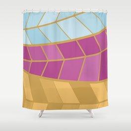 GOLDMOSAIC2 Shower Curtain