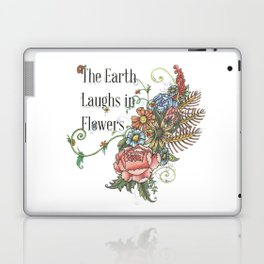Laughing in Flowers Laptop & iPad Skin