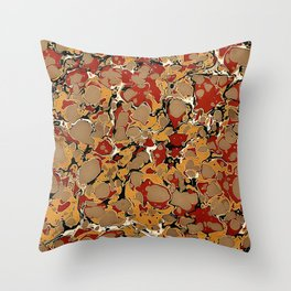 Old Marbled Paper 04 Throw Pillow
