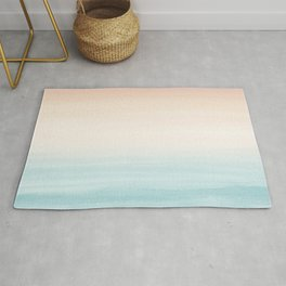 Touching Watercolor Abstract Beach Dream #3 #painting #decor #art #society6 Rug