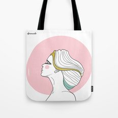 Profile Girl Tote Bag
