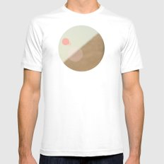 Pyramid//Five White Mens Fitted Tee MEDIUM
