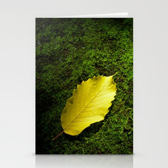 yellow autumn leaf I Stationery Cards