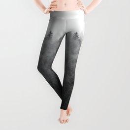 Black and White Mist Ombre Leggings