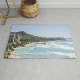 Waikiki Beach & Diamond Head View Photography Rug
