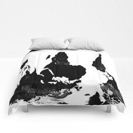 World Map White & BlacK Comforters