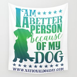 Dog Person Wall Tapestry