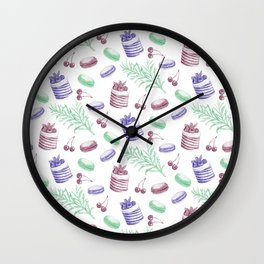 cute french pattern Wall Clock