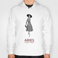 aries Hoodies featuring Aries by Cansu Girgin