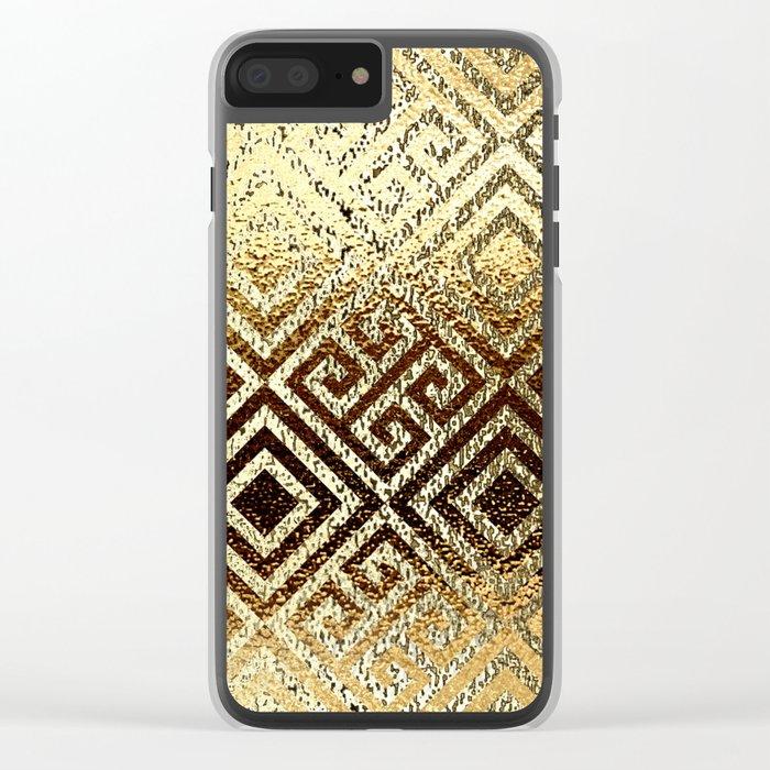 Elegant gold #1 Clear iPhone Case