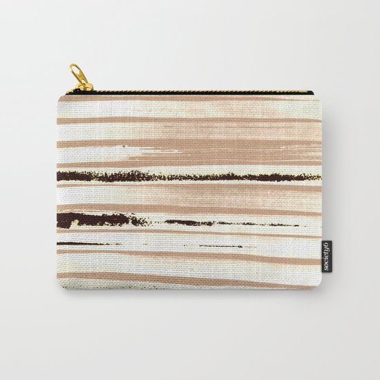 Brown Earth Lines Carry-All Pouch