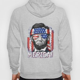 4th of July Shirts for Men Merica Abe Lincoln Women Tee Gift Hoody
