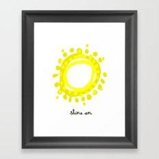Shine on! Framed Art Print