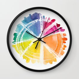 Watercolor Wonder Wheel Wall Clock