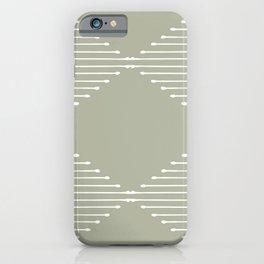 Geo (Linen Sage) iPhone Case