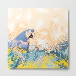 Exotic bird in the jungle Metal Print