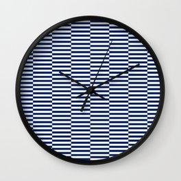 Blue & white offset check no.120 Wall Clock