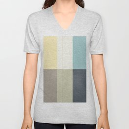 Contemporary art painting, geometric modernism, abstract canvas for home decoration, living room wal Unisex V-Neck