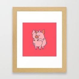 Pig Hugs Framed Art Print