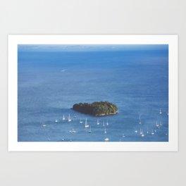 Camden Harbor Sailboats x Aerial Maine Photography Art Print