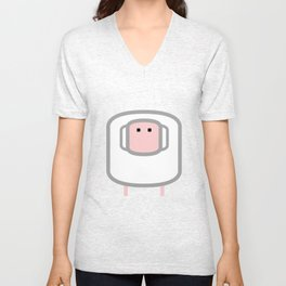 Geometric Animals of the FARM: the sheep Unisex V-Neck