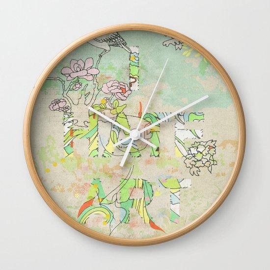 I HATE ART Wall Clock