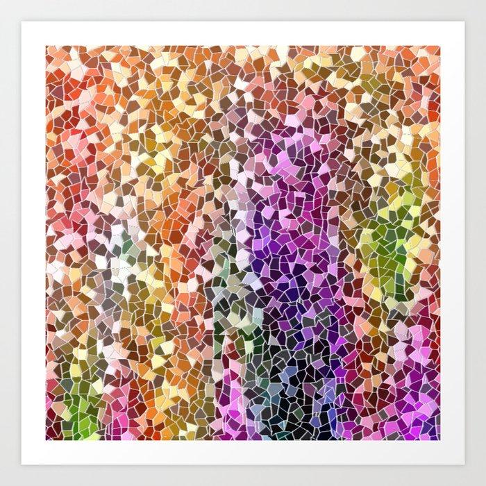 Rainbow Mosaic Art Print