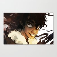 nico di angelo Canvas Prints featuring Nico Di Angelo by kirza