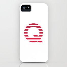 Qanon American Red Patriotic Stripes USA Great Awakening Q iPhone Case