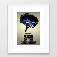 flight of the conchords Framed Art Prints featuring Flight of the Conchords - Hair Helmet by maclac