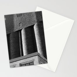 Brick Building Black and White-Minneapolis Architecture Stationery Cards